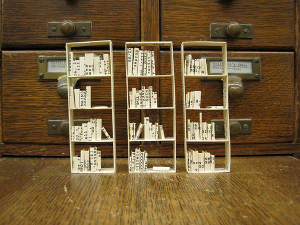 Artist project with catalog cards
