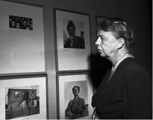 Eleanor Roosevelt at exhibition