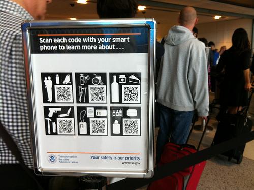 QR Codes on TSA Signs