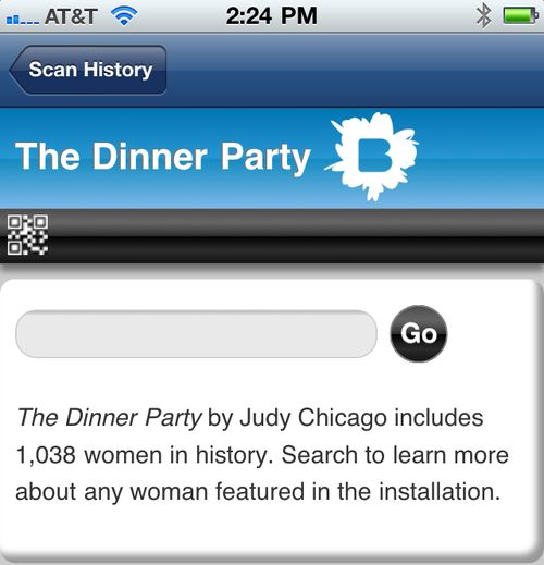 The Dinner Party mobile search
