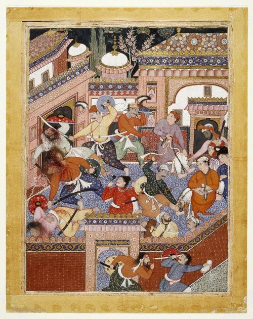 Led by Songhur Balkhi and Lulu the Spy, the Ayyars Slit the Throats of Prison Guards and Free Sa'id Farrukh-Nizhad