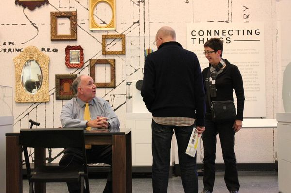 Arnold Lehman at the Connecting Cultures Desk