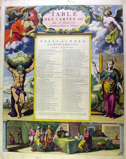 Sanson Atlas Table of Contents