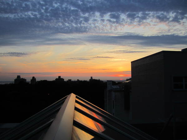 Sunset from the Brooklyn Museum roof.