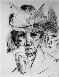 Max Beckmann (German, 1884-1950). Weeping Woman (Weinende Frau), 1914. Drypoint on heavy wove paper, Image: 9 1/4 x 7 5/16 in. (23.5 x 18.6 cm). Brooklyn Museum, By exchange, 38.257. © artist or artist's estate
