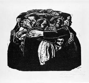 Käthe Kollwitz (German, 1867–1945). The Mothers (Die Mütter), 1922–23. Woodcut on heavy Japan paper, 18 13/16 x 25 9/16 in. (47.8 x 64.9 cm). Brooklyn Museum, Carll H. de Silver Fund, 44.201.6. © 2012 Artists Rights Society (ARS), New York/VG Bild-Kunst, Bon