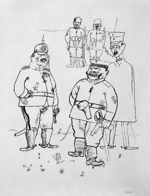 George Grosz (American, born Germany, 1893-1959). For German Right and German Morals (Für Deutsches Recht und Deutsche Sitte), 1919. Lithograph, Sheet: 25 1/16 x 18 5/8 in. (63.7 x 47.3 cm). Brooklyn Museum, Gift of Dr. F. H. Hirschland, 55.165.143