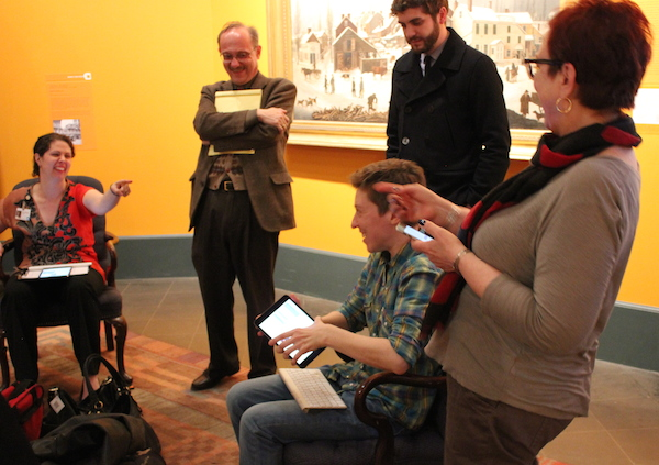 Staff helped type our Chief Curator's responses into iPads during the pilot.