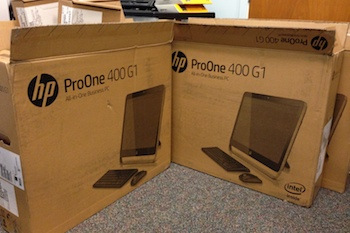 We went with the HP ProOne 400.