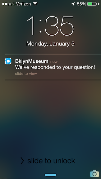 The iPod Touch doesn't have a vibration mechanism making notifications in a museum a tricky thing.