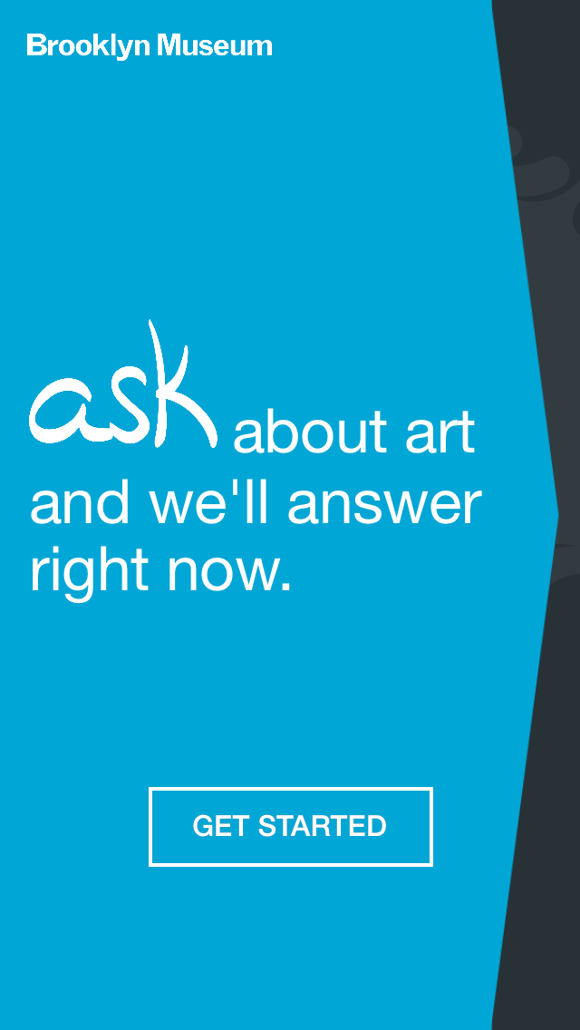 A short, crisp, direct call-to-action that explains ASK is used for answering questions in real-time before leading visitors into ASK functionality.