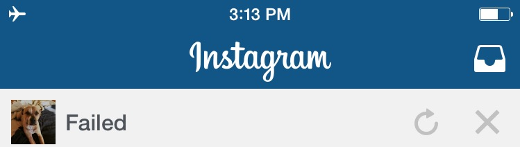 """As seen on Instagram, """"push to retry"""" is functionality users have grown to expect."""