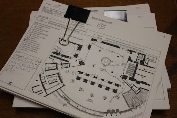 In an early pilot, we tracked visitor traffic patterns in our lobby using pencils and photocopies.