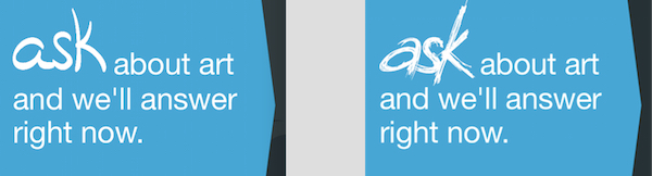 Comparing the first version of the ASK logo with our latest.