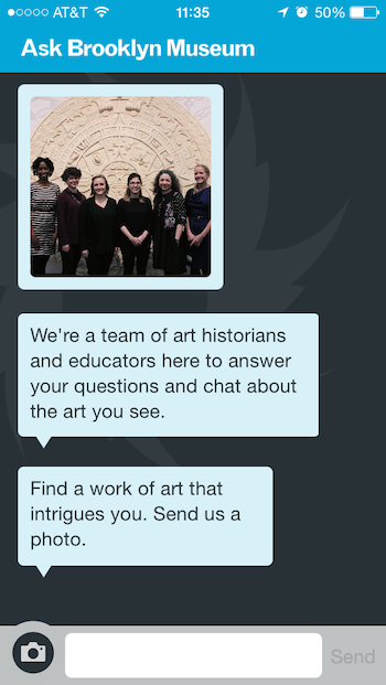 Prompt was changed to elicit more deliberate action on the part of the user, a prompt that would require to the user to not just immediately engage with the app, but also immediately engage with the art in the Museum in a thoughtful manner.