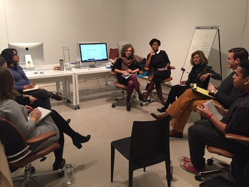 Data review meeting between the ASK team and our curators in European art.