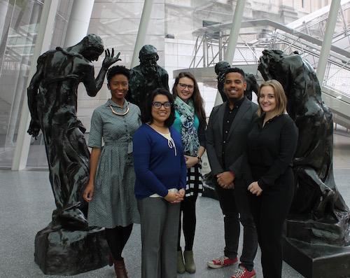 The current ASK team (Stephanie Cunningham, Zinia Rahman, Elizabeth Treptow, Andy Hawkes, and Megan Mastrobattista) with a few friends.