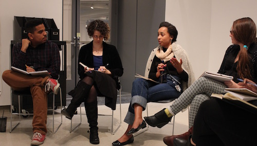 Assistant Curator Rujeko Hockley meets with the ASK team to review their recent chats about Contemporary Art.