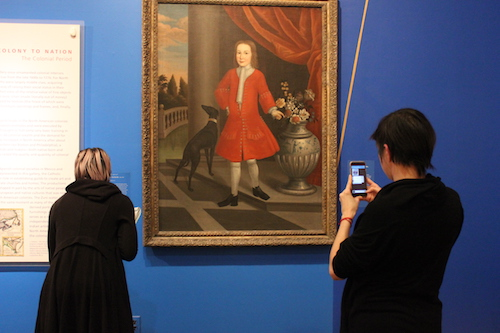 As part of our first workshop, members of the education staff spent time in the galleries using the app.