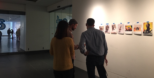 Cornell Team user testing image recognition with BKM visitors.