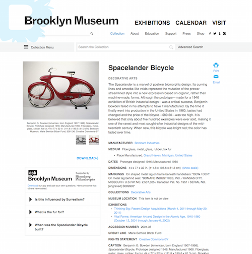 ASK snippets can now be seen on object pages like in this example of our Spacelander Bicycle.