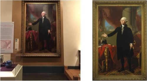 Visitor image on the left. Brooklyn Museum original image on the right.