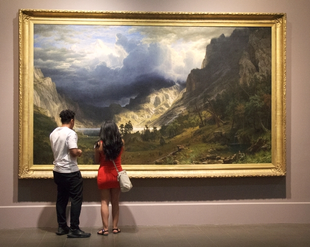 The Bierstadt landscape is a visitor favorite and a collection highlight. Photo by Britteny Najar.
