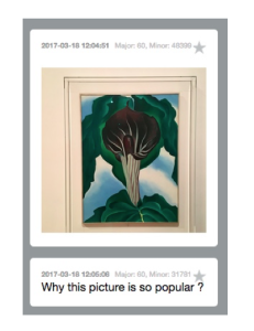We were surprised by the number of basic questions about O'Keeffe we receive. We were expecting more O'Keeffe aficionados.