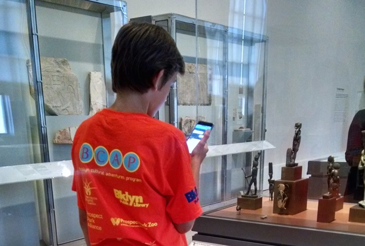 "Several children of staff members took time from a summer afternoon to test an early version of our ""Soulful Creatures"" hunt in the Egyptian galleries."