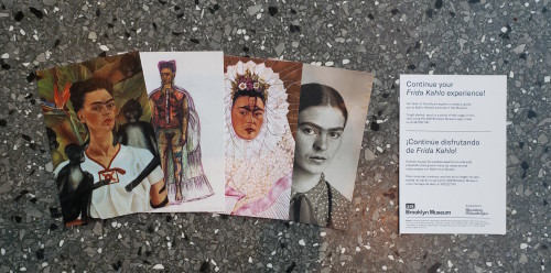 The four palm cards for our post-exhibition ASK experience offered a choice of four Kahlo images.