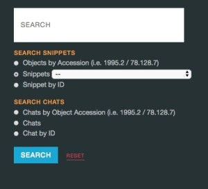 Jacki modeled the chat search function after the snippet search, which allows for three ways to access the information.