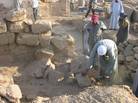 Taharqa Gate, South Wing Blocks